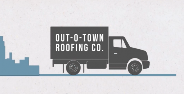out of town roofing company
